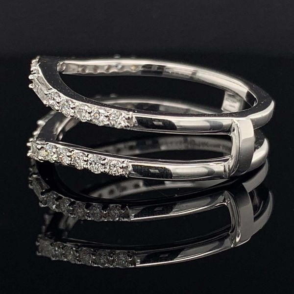 White Gold And Diamond Jacket Wedding Band Image 2 Geralds Jewelry Oak Harbor, WA