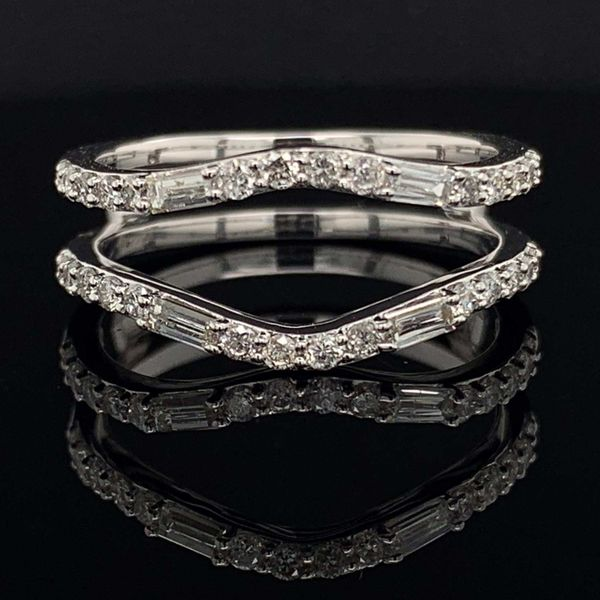 White Gold And Diamond Jacket Wedding Band Geralds Jewelry Oak Harbor, WA