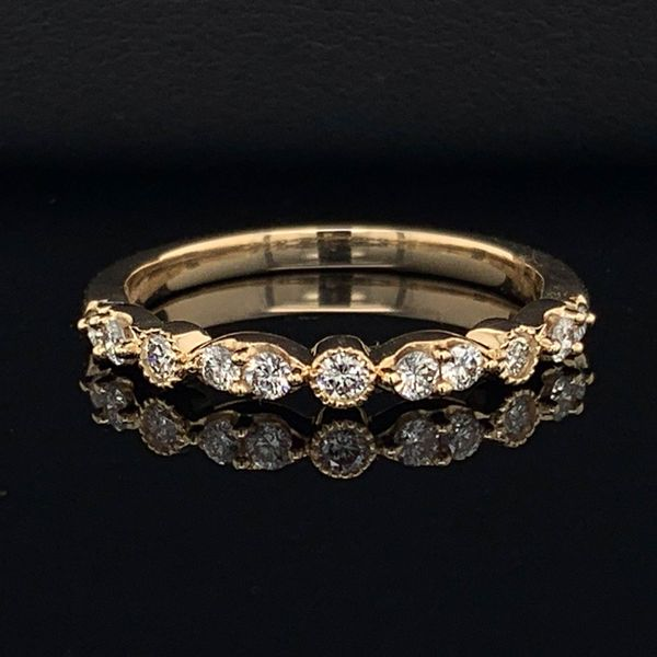 Yellow Gold And Diamond Wedding Band Geralds Jewelry Oak Harbor, WA