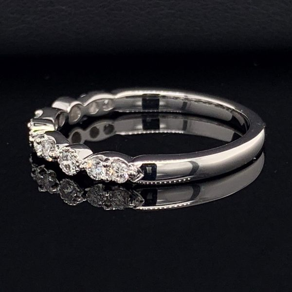 Ladies 14K White Gold And Diamond Wedding Band Image 2 Gerald's Jewelry Oak Harbor, WA
