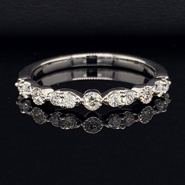 Ladies 14K White Gold And Diamond Wedding Band Gerald's Jewelry Oak Harbor, WA