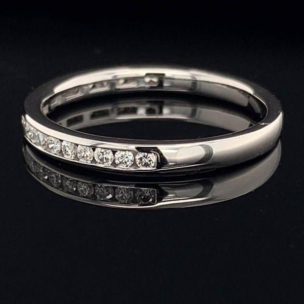 White Gold And Diamond Channel Set Anniversary Band Image 2 Geralds Jewelry Oak Harbor, WA