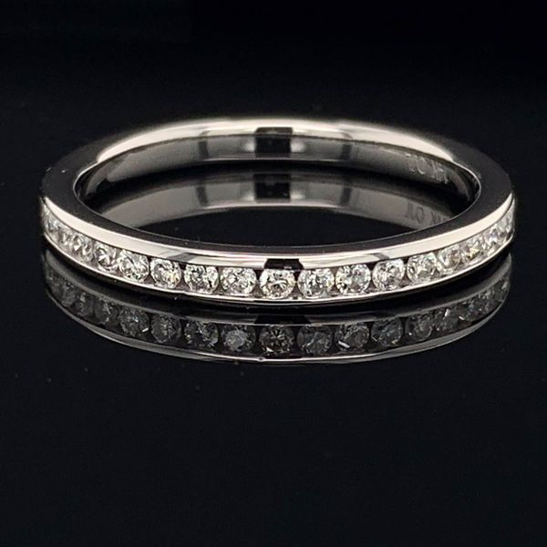 White Gold And Diamond Channel Set Anniversary Band Geralds Jewelry Oak Harbor, WA