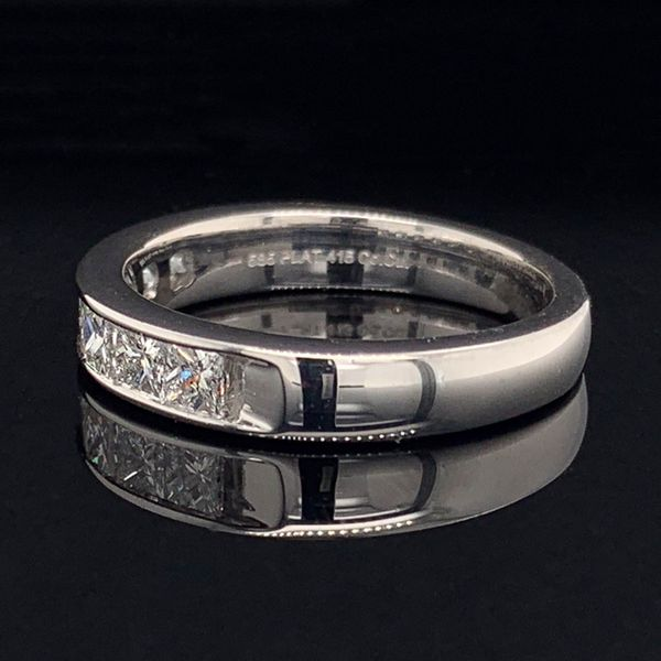 Platinum And Princess Cut Diamond Channel Set Anniversary Band Image 2 Gerald's Jewelry Oak Harbor, WA