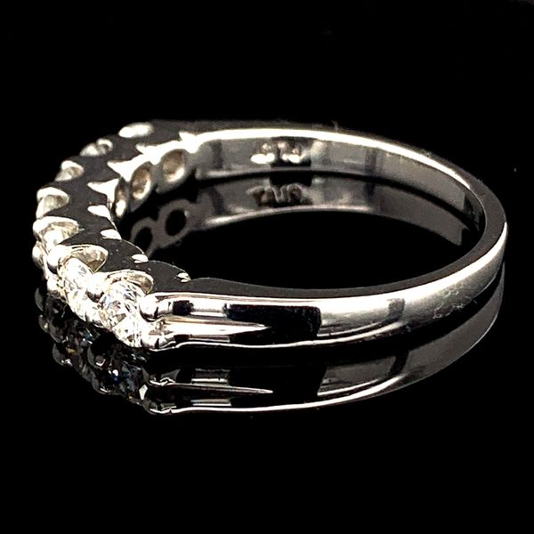 Platinum And Diamond Wedding Band Image 2 Gerald's Jewelry Oak Harbor, WA