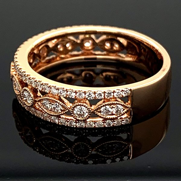 Rose Gold And Diamond Ladies Ring, .58Ct Total Weight Image 2 Gerald's Jewelry Oak Harbor, WA
