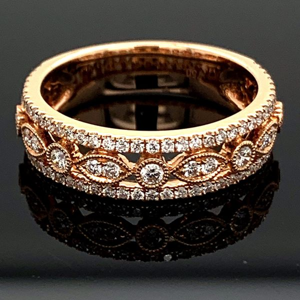 Rose Gold And Diamond Ladies Ring, .58Ct Total Weight Gerald's Jewelry Oak Harbor, WA