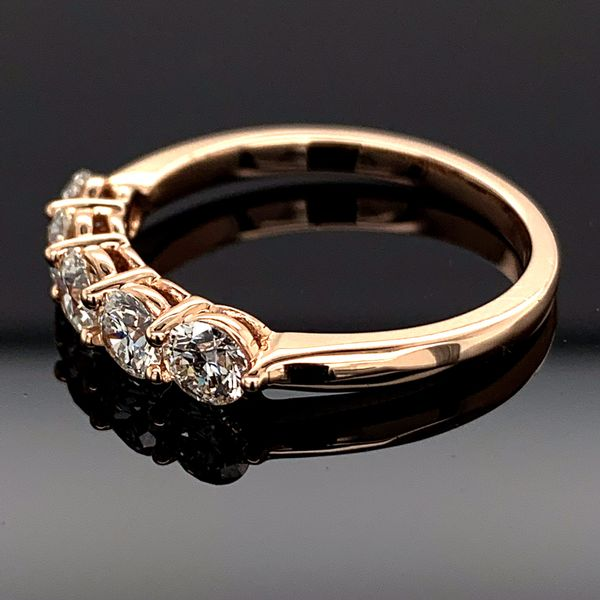 Hearts and Arrows Cut Diamond 5 Stone Ring, 1.02Ct Total Weight Image 2 Gerald's Jewelry Oak Harbor, WA