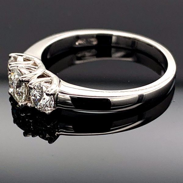 Hearts And Arrows Cut Diamond 3-Stone Ring, .70ct Total Weight Image 2 Gerald's Jewelry Oak Harbor, WA