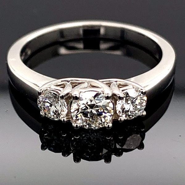 Hearts And Arrows Cut Diamond 3-Stone Ring, .70ct Total Weight Gerald's Jewelry Oak Harbor, WA