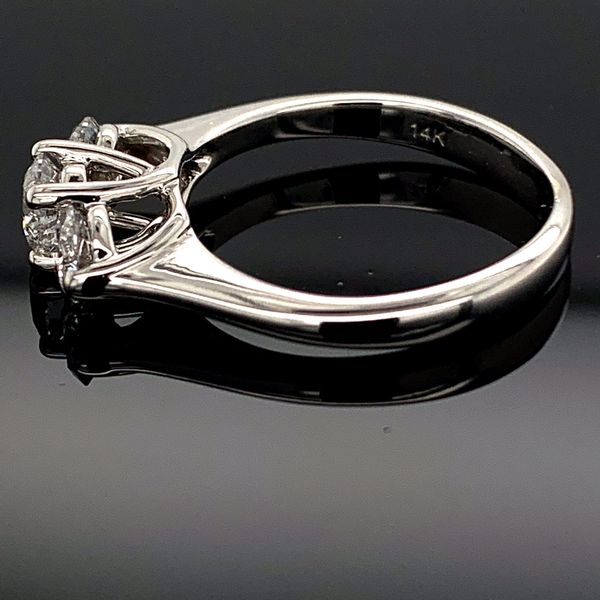 Ladies Ideal Cut 3 Stone Diamond Ring, 1.00Ct Total Weight Image 3 Gerald's Jewelry Oak Harbor, WA