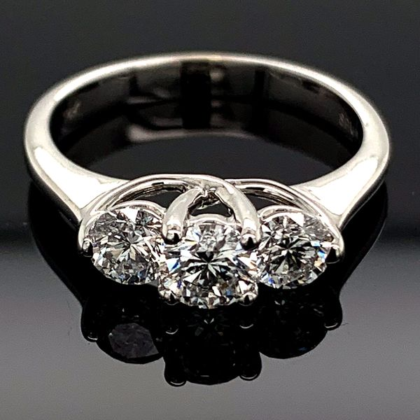 Ladies Ideal Cut 3 Stone Diamond Ring, 1.00Ct Total Weight Gerald's Jewelry Oak Harbor, WA