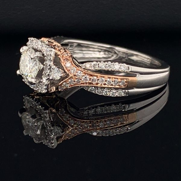 14K White And Rose Gold Ladies Diamond Fashion Ring Image 2 Geralds Jewelry Oak Harbor, WA