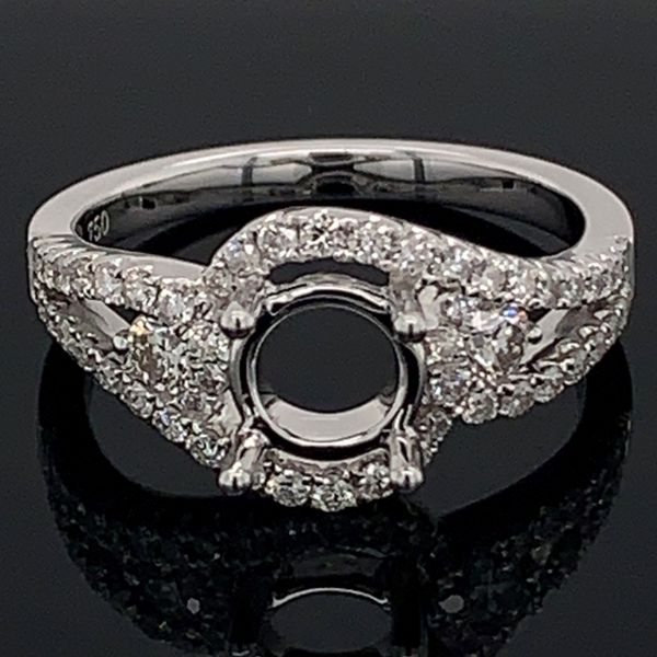 18K White Gold Diamond Semi Mount Ring Gerald's Jewelry Oak Harbor, WA