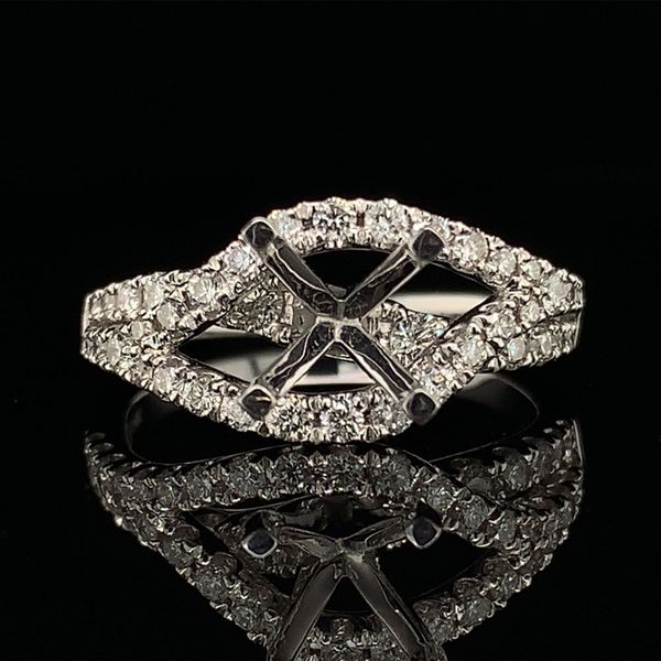 White Gold And Diamond Semi Mount Wedding Set Gerald's Jewelry Oak Harbor, WA