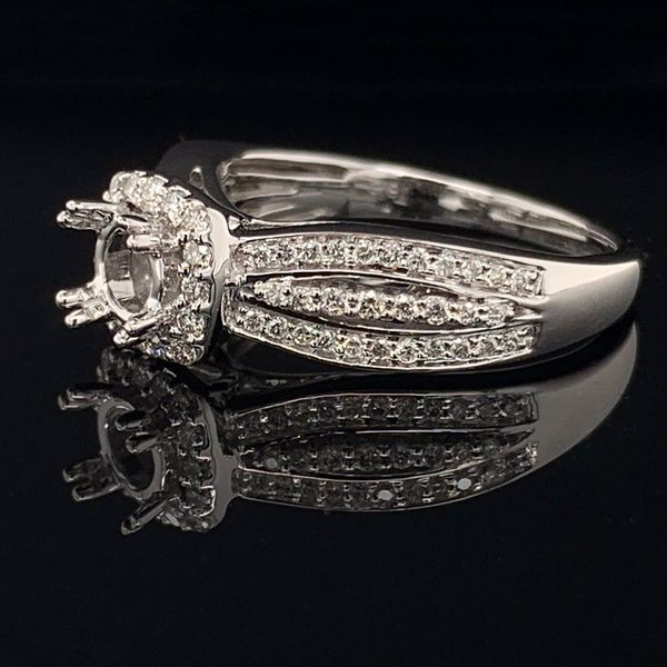 White Gold And Diamond Semi Mount Ladies Ring Image 2 Gerald's Jewelry Oak Harbor, WA