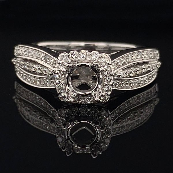 White Gold And Diamond Semi Mount Ladies Ring Gerald's Jewelry Oak Harbor, WA