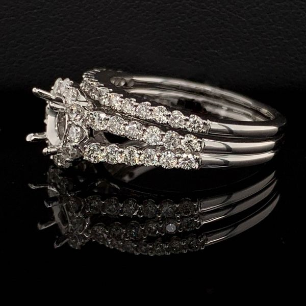 White Gold And Diamond Semi Mount Wedding Set Image 2 Gerald's Jewelry Oak Harbor, WA
