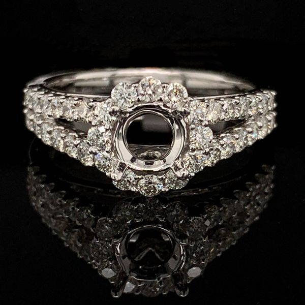 White Gold And Diamond Semi Mount Wedding Set Image 3 Gerald's Jewelry Oak Harbor, WA