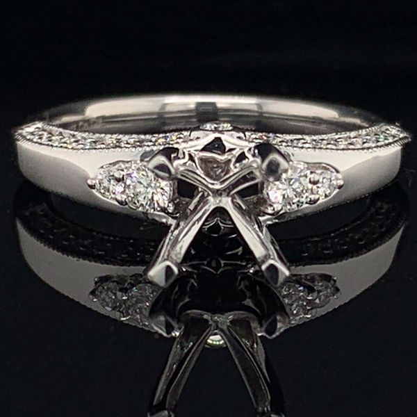 Platinum And Diamond Semi Mount Ladies Ring Gerald's Jewelry Oak Harbor, WA