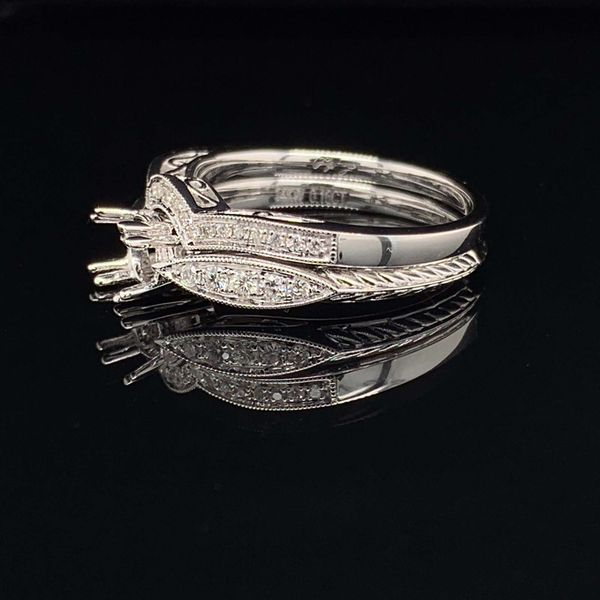 14K White Gold And Diamond Ladies Wedding Set Without Center Stone Image 2 Gerald's Jewelry Oak Harbor, WA