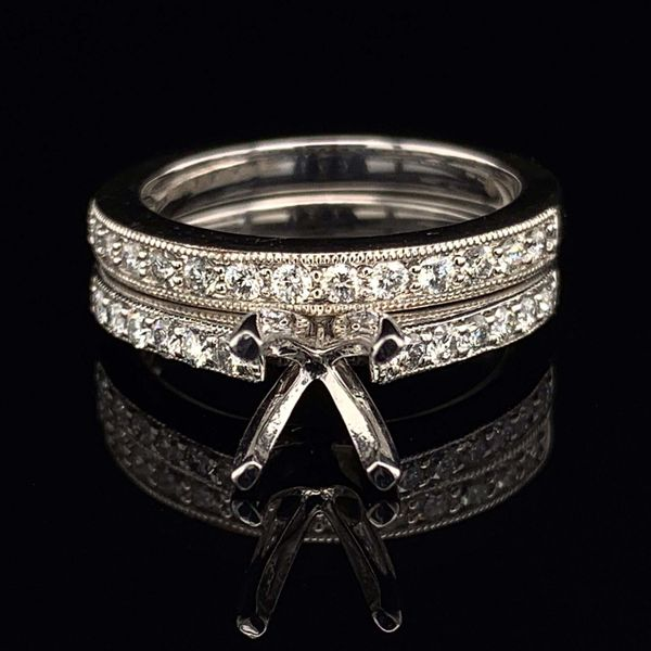 .585 Platinum And Diamond Wedding Set Without Center Stone Gerald's Jewelry Oak Harbor, WA