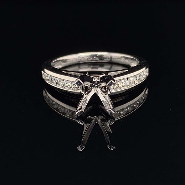 .585 Platinum And Diamond Engagement Ring Without Center Stone Gerald's Jewelry Oak Harbor, WA