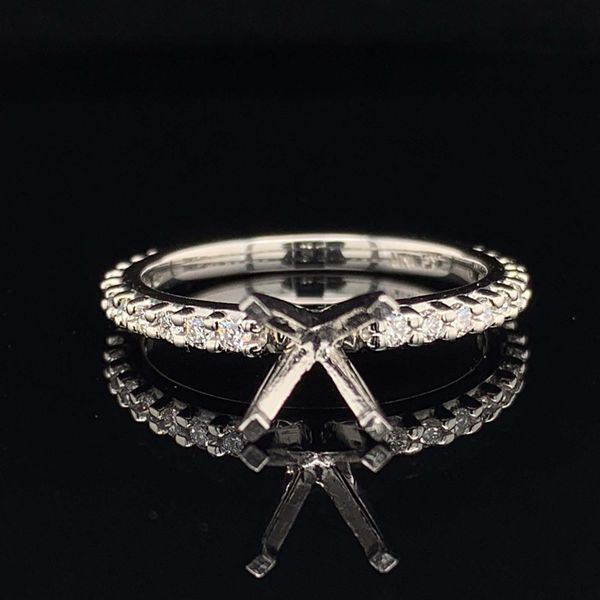 Platinum And Diamond Ladies Shared Prong Engagement Ring Without Center Stone Geralds Jewelry Oak Harbor, WA