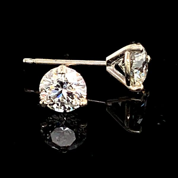 Hearts & Arrows Diamond Studs, .82Ct Total Weight Gerald's Jewelry Oak Harbor, WA