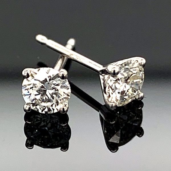 .49ct Total Weight Hearts and Arrows Diamond Stud Earrings Gerald's Jewelry Oak Harbor, WA