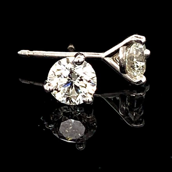 Hearts & Arrows Diamond Studs, .92Ct Total Weight Gerald's Jewelry Oak Harbor, WA