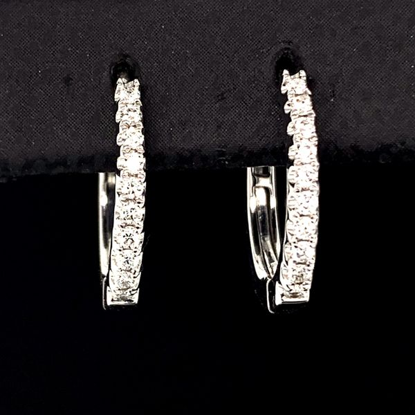 Diamond Leverback Hoop Earrings, .16Ct Total Weight Gerald's Jewelry Oak Harbor, WA