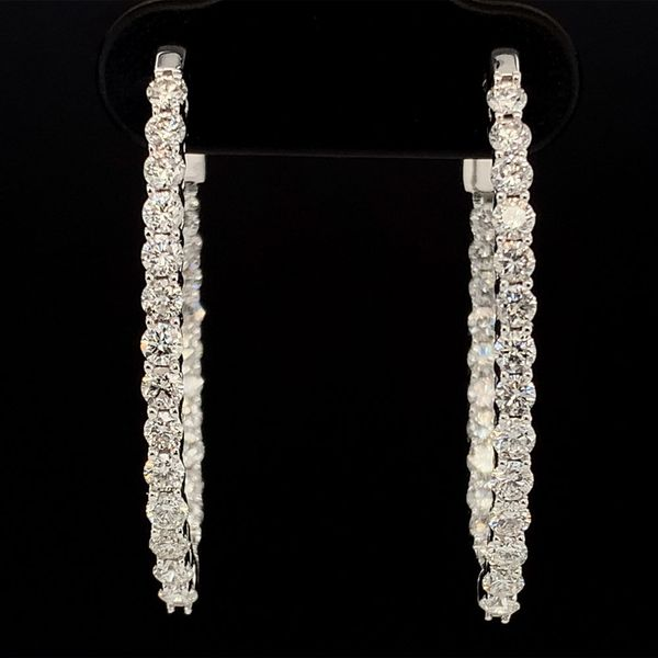 1.50Ct Total Weight Inside Out Diamond Hoop Earrings Gerald's Jewelry Oak Harbor, WA