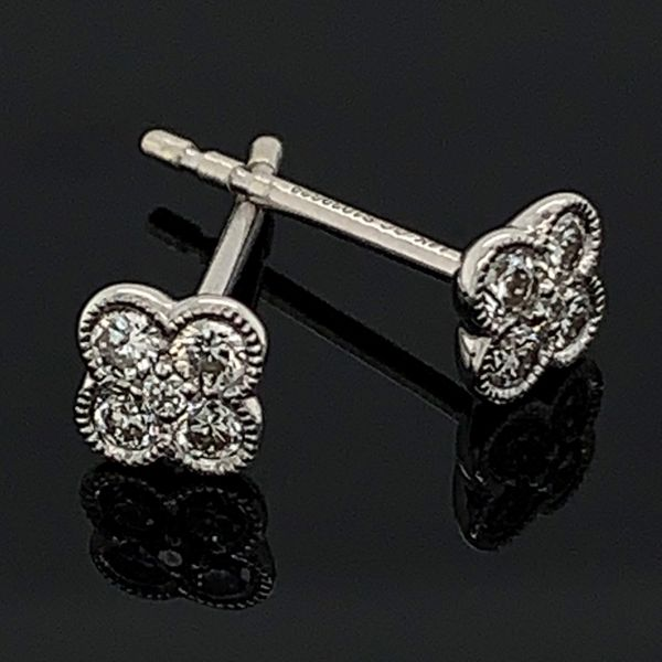 Gabriel & Co. 14K White Gold Diamond Earrings Gerald's Jewelry Oak Harbor, WA