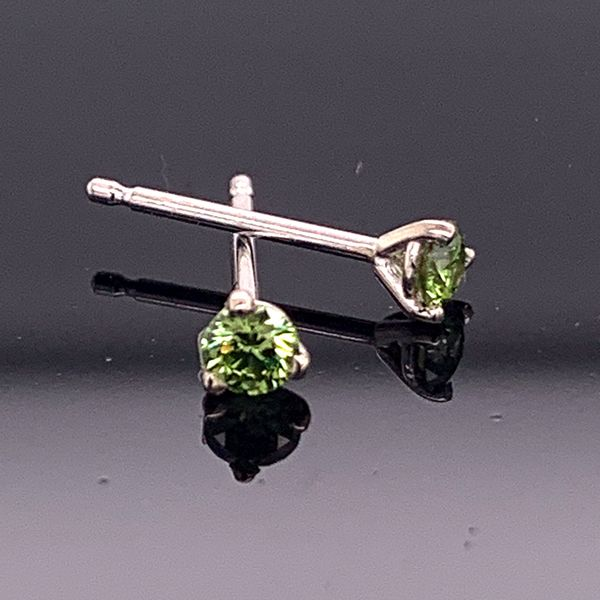 .14Ct Total Weight Enhanced Green Diamond Stud Earrings Gerald's Jewelry Oak Harbor, WA