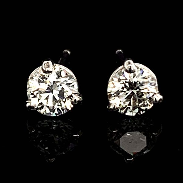 Hearts & Arrows Diamond Studs, .73Ct Total Weight Image 2 Gerald's Jewelry Oak Harbor, WA