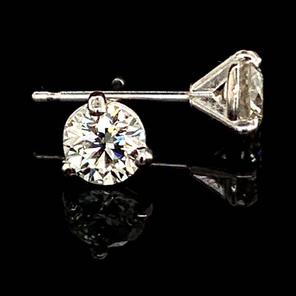 Hearts & Arrows Diamond Studs, .73Ct Total Weight Gerald's Jewelry Oak Harbor, WA