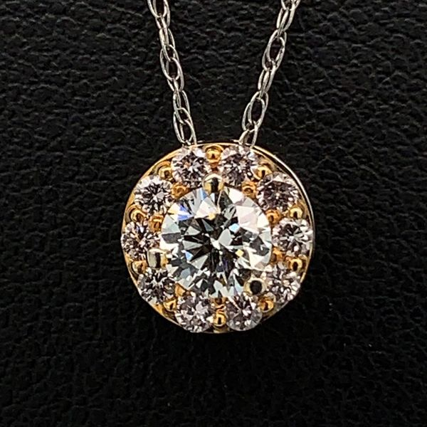 .53Ct Total Weight Natural Pink And White Diamond Pendant Gerald's Jewelry Oak Harbor, WA