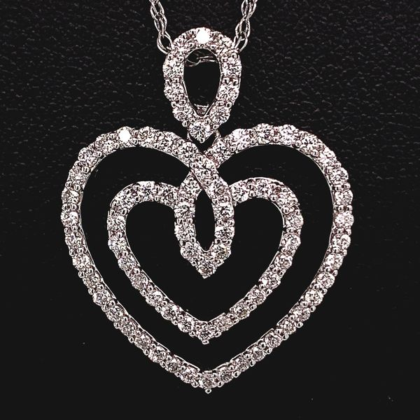 Double Heart Diamond Pendant Gerald's Jewelry Oak Harbor, WA