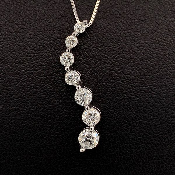 White Gold And Diamond Journey Pendant Geralds Jewelry Oak Harbor, WA