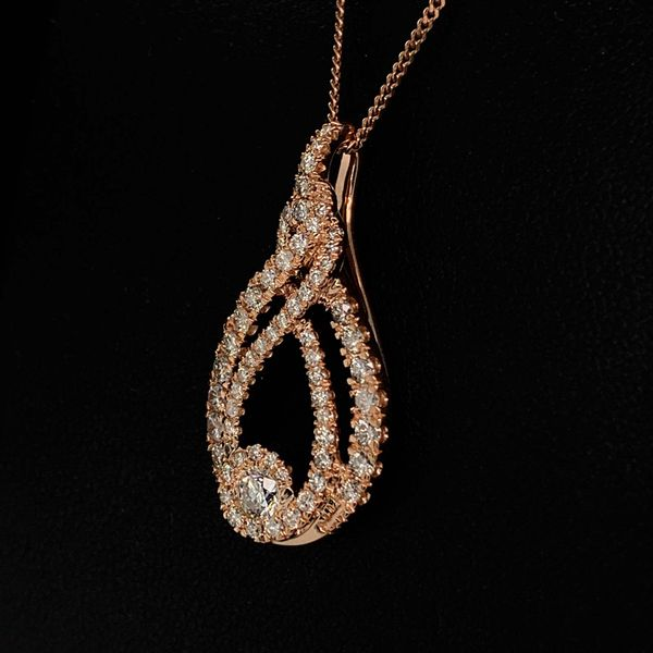 Ladies 10K Rose Gold And Diamond Fashion Pendant Image 2 Gerald's Jewelry Oak Harbor, WA
