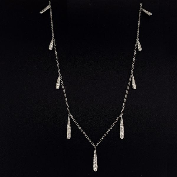 Gabriel & Co. 14K White Gold Diamond Necklace Image 2 Gerald's Jewelry Oak Harbor, WA