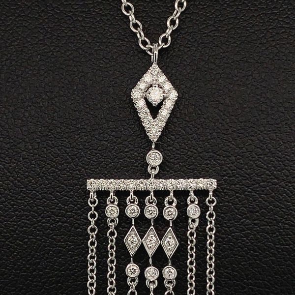 Gabriel & Co. 14K White Gold and Diamond Pendant Image 2 Gerald's Jewelry Oak Harbor, WA