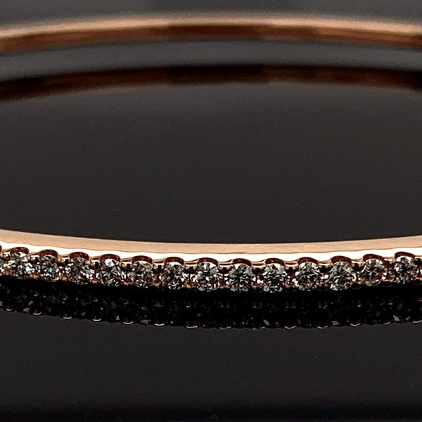 Rose Gold And Diamond Bangle Bracelet Image 2 Gerald's Jewelry Oak Harbor, WA