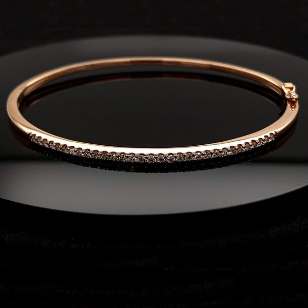 Rose Gold And Diamond Bangle Bracelet Gerald's Jewelry Oak Harbor, WA