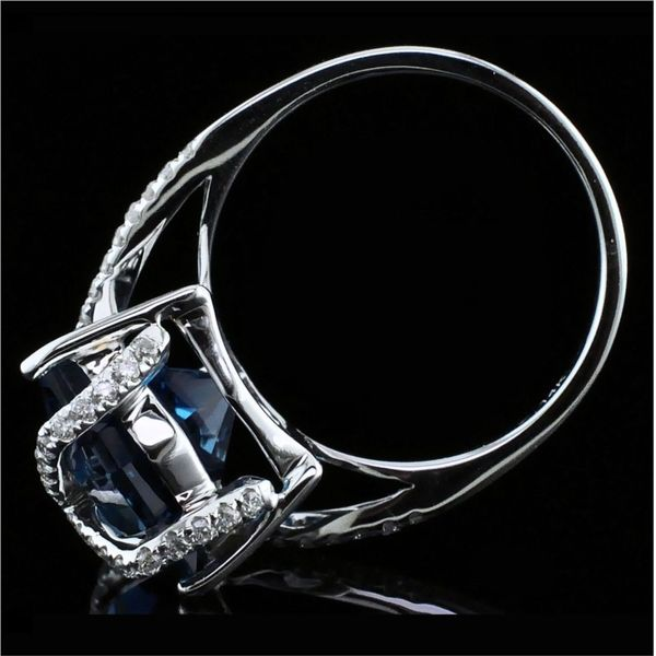Ladies London Blue Topaz and Diamond Fashion Ring Image 3 Gerald's Jewelry Oak Harbor, WA