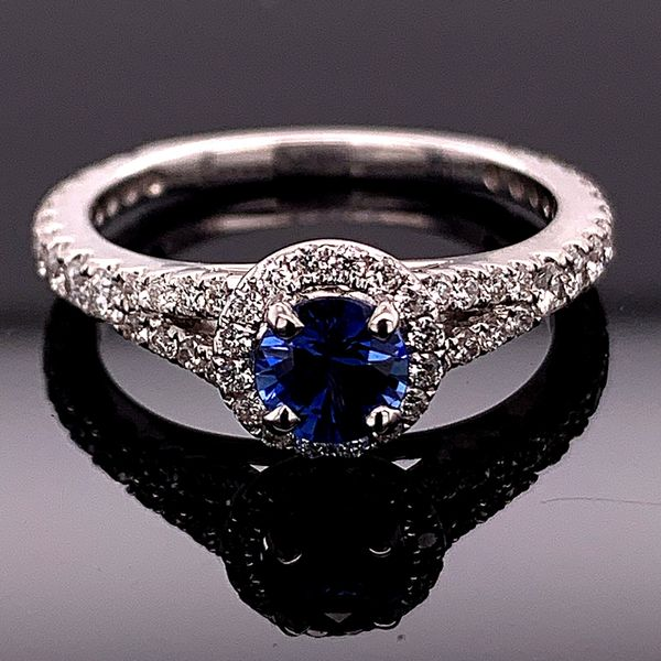 Blue Sapphire And Diamond Ring Gerald's Jewelry Oak Harbor, WA