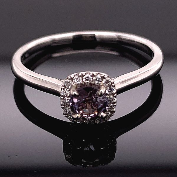 18K White Gold, Alexandrite And Diamond Ring Gerald's Jewelry Oak Harbor, WA