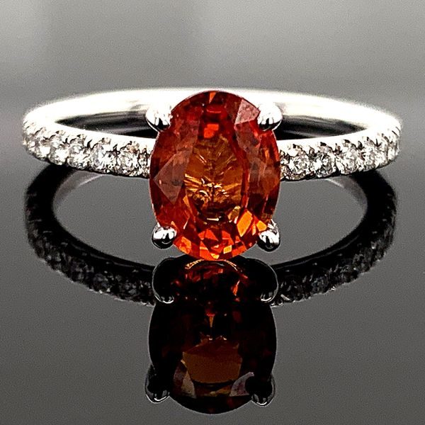 Ladies 18K, Fire Ruby and Diamond Ring Gerald's Jewelry Oak Harbor, WA
