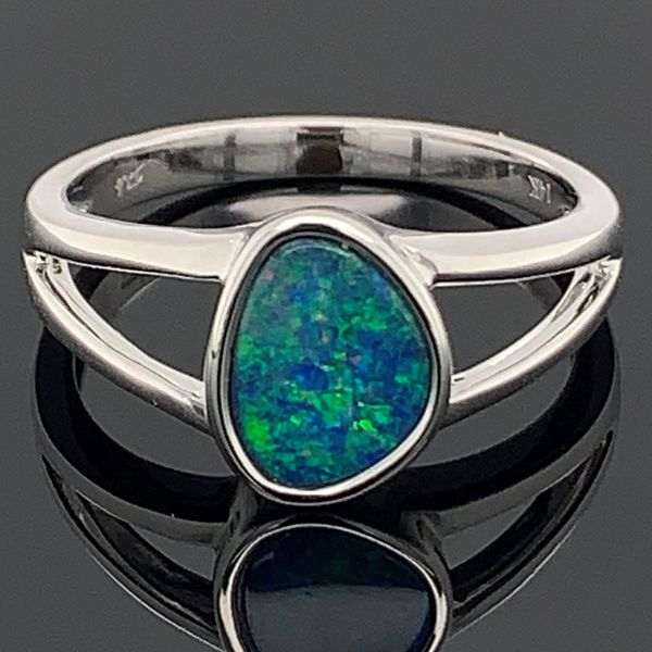 Australian Opal Doublet Ring Gerald's Jewelry Oak Harbor, WA